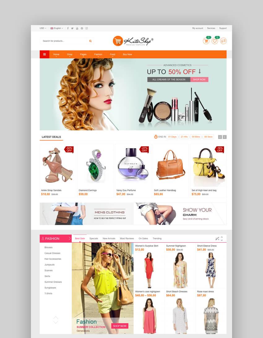 KuteShop - Fashion, Beauty & Cosmetics Elementor WooCommerce Theme