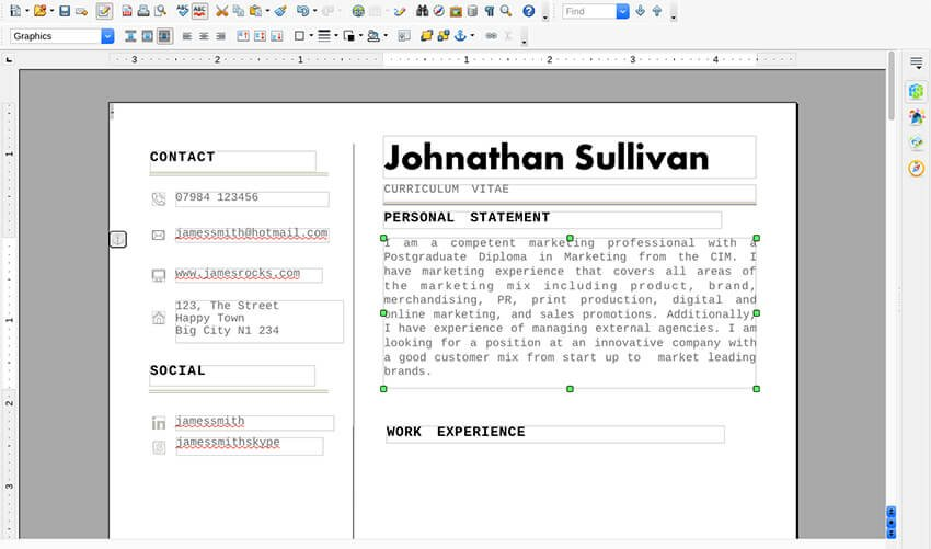Converted file in OpenOffice