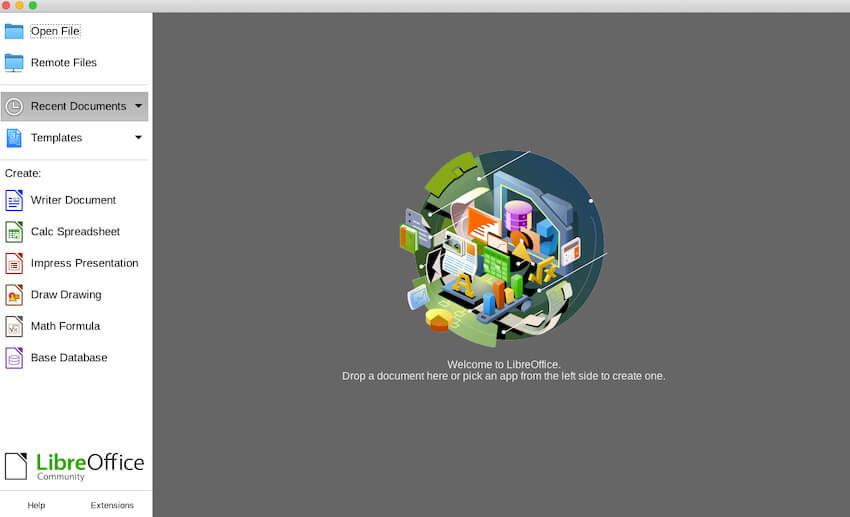 launching LibreOffice
