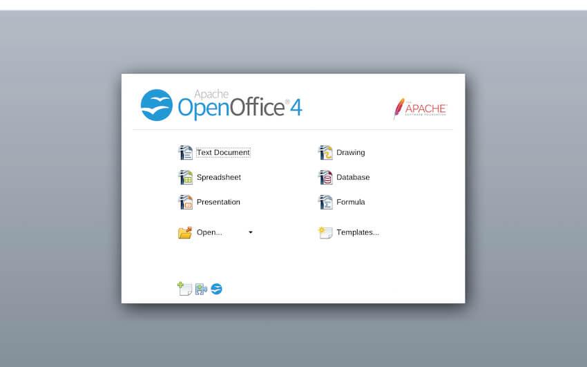 launching OpenOffice