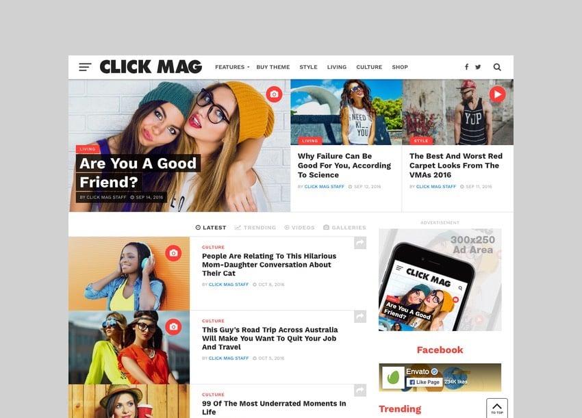 Click Mag - Viral News Theme for WordPress