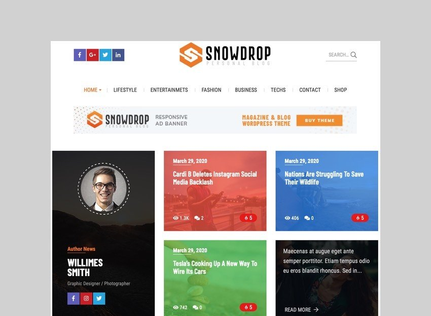 Snowdrop - Viral News Theme for News Sites and Magazines