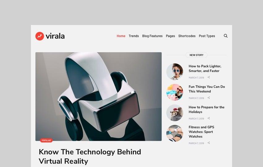 Virala - Viral Website Theme for Magazines