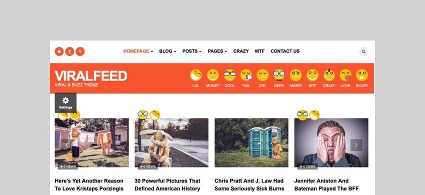 ViralFeed - Viral and Buzz WordPress Theme