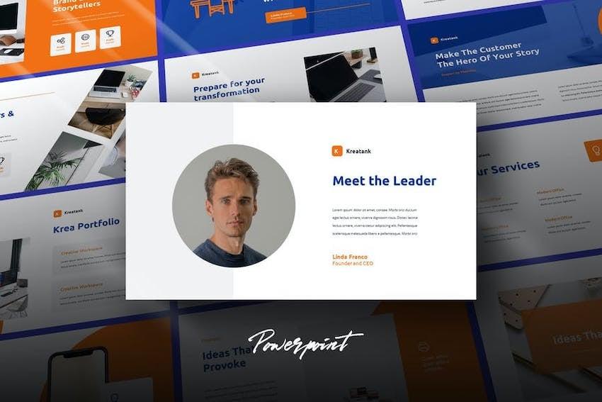 Kreatank Profile Presentation on Envato Elements