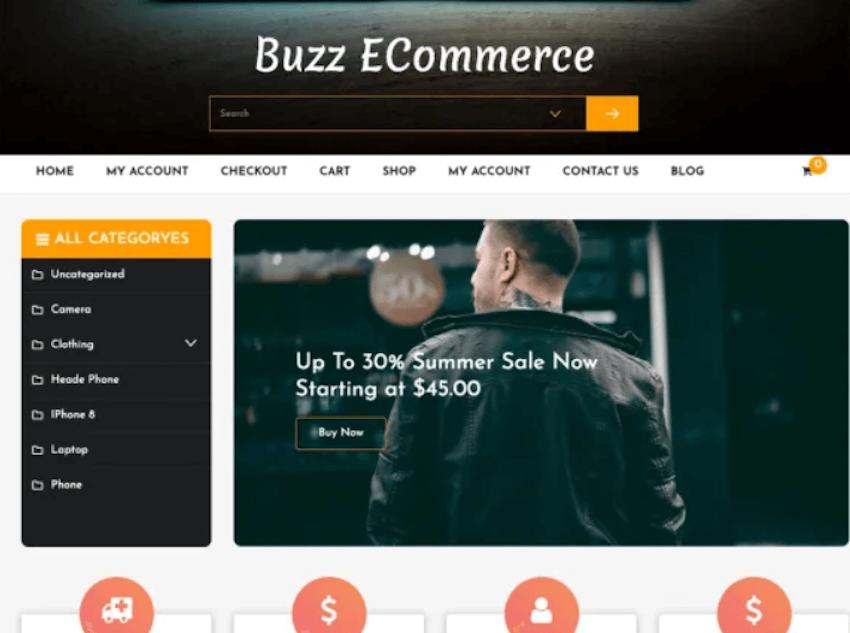 Buzz eCommerce - Free WordPress Theme