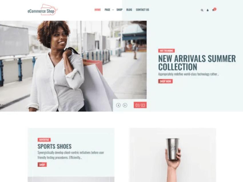 eCommerce Shop - Free Online Shop Theme