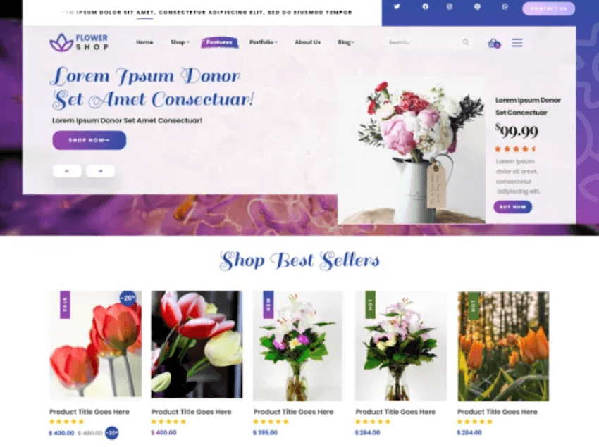 Florist Flower Shop - Free eCommerce WordPress Theme