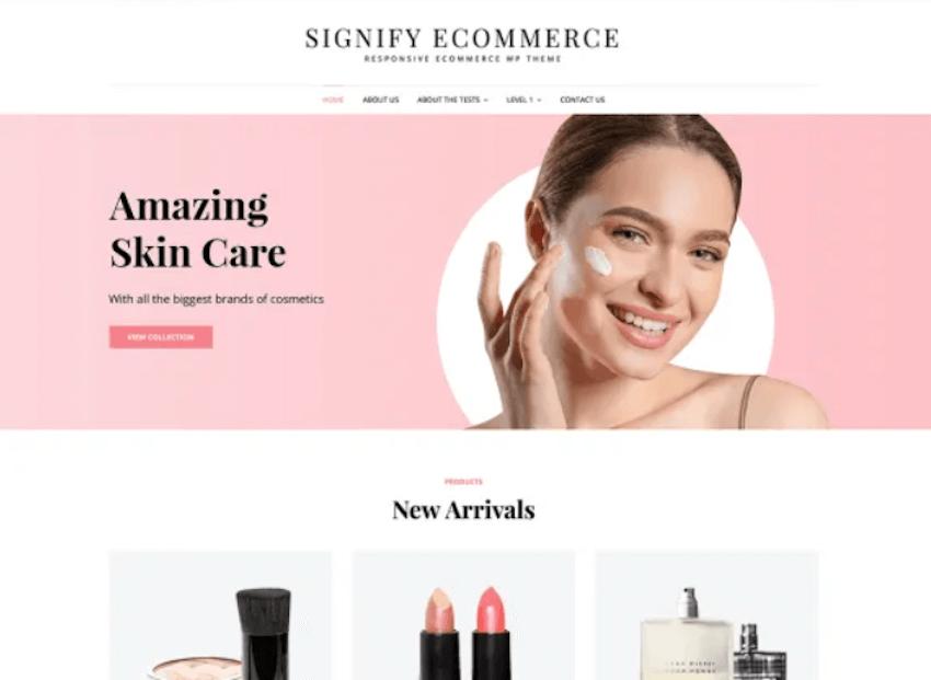 Signify eCommerce - Free Online Shop WordPress Theme