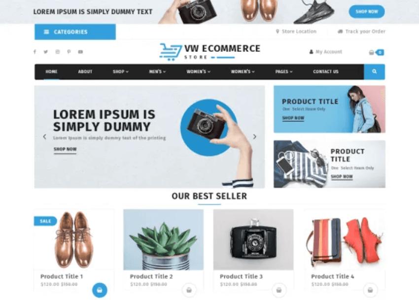 VW eCommerce Store - Free WordPress Theme
