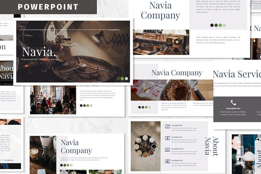 Navia PowerPoint Template on Envato Elements