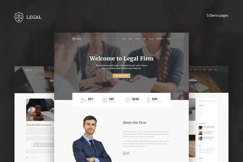 Legal Landing Page Template