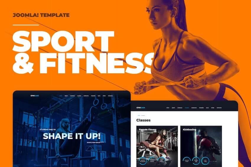 Sports Joomla Template on Envato Elements