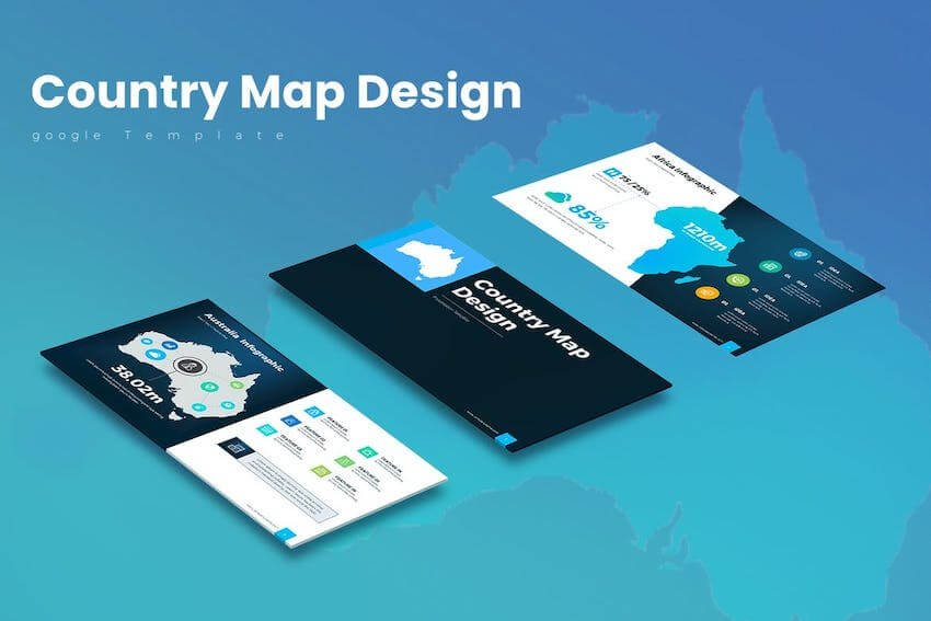 Country Map Google Slides template