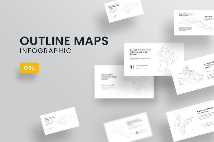 Outline Maps template