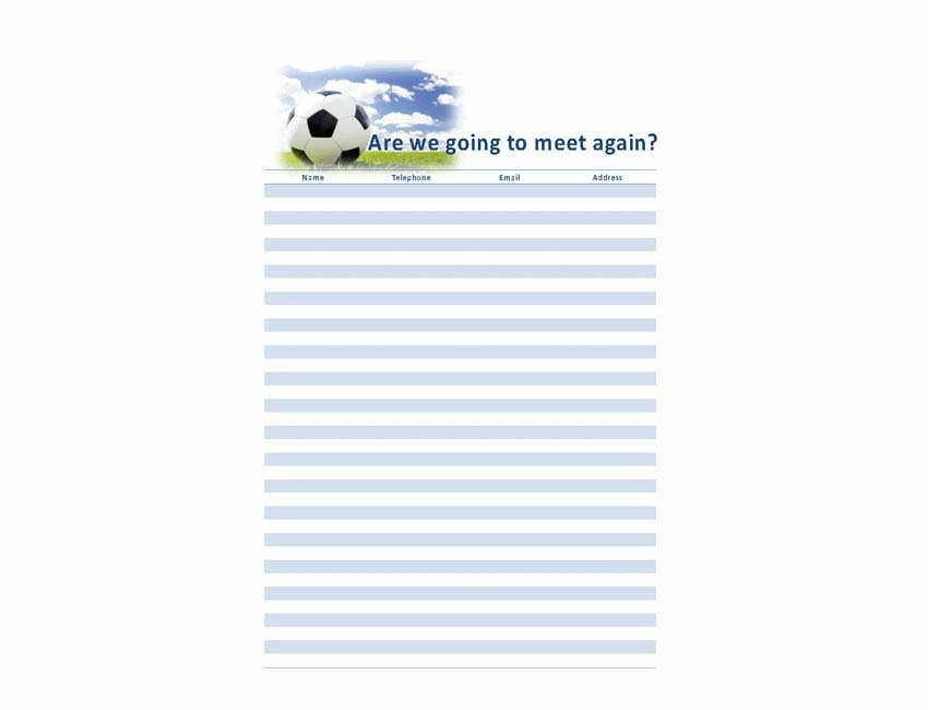 Contact List Template - Word Templates
