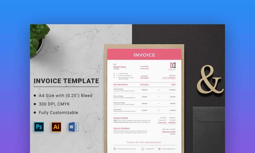 Invoice Word Premium Template