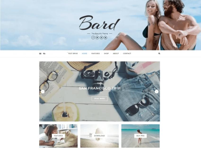 Bard WordPress blog theme