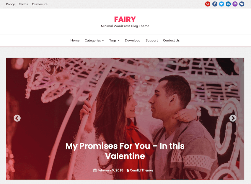Fairy WordPress blog theme