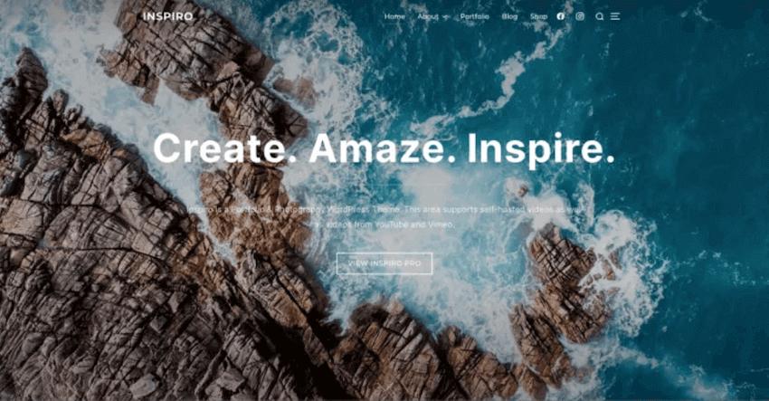 Inspire WordPress blog theme