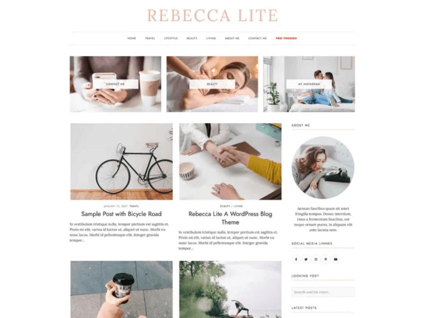 RebeccaLite WordPress blog theme