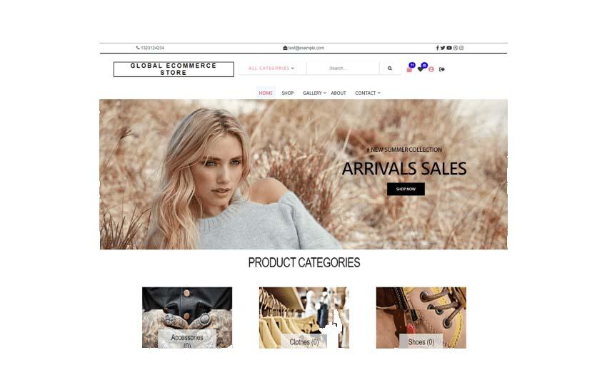 Global eCommerce Store WooCommerce Theme