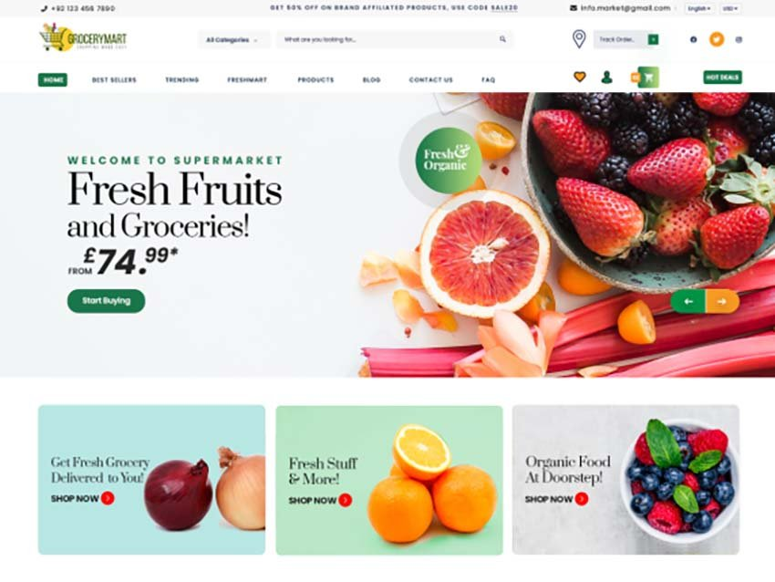 Online Grocery Mart WooCommerce Theme