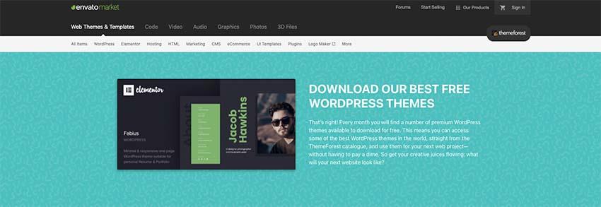 WordPress themes on ThemeForest