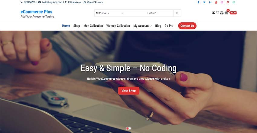eCommerce Plus WooCommerce Theme