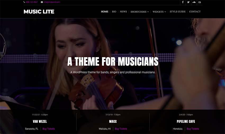 Music Lite WordPress Theme