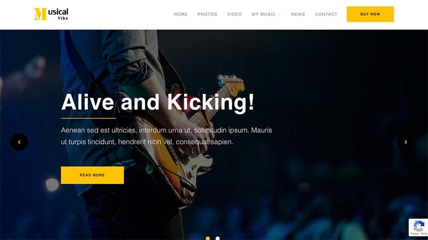 Musical Vibe WordPress Theme