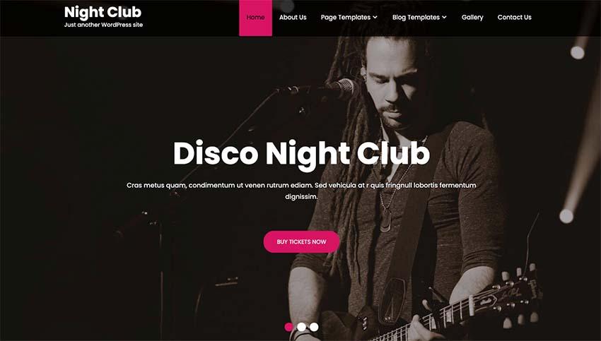 Night Club Lite WordPress Theme