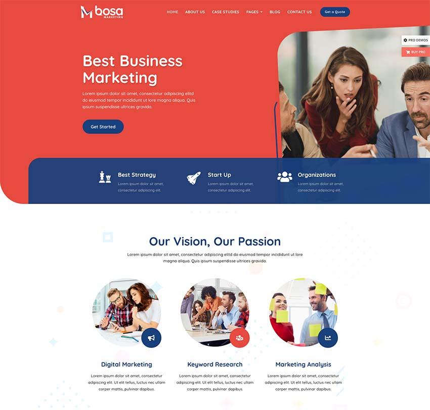 Bosa WordPress Theme for Business