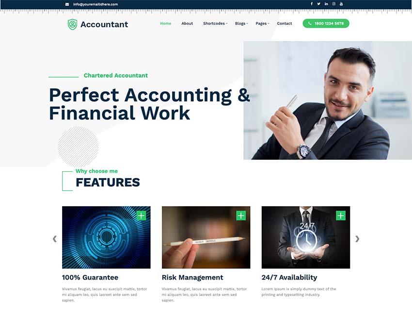 Business Accounting WordPress Theme