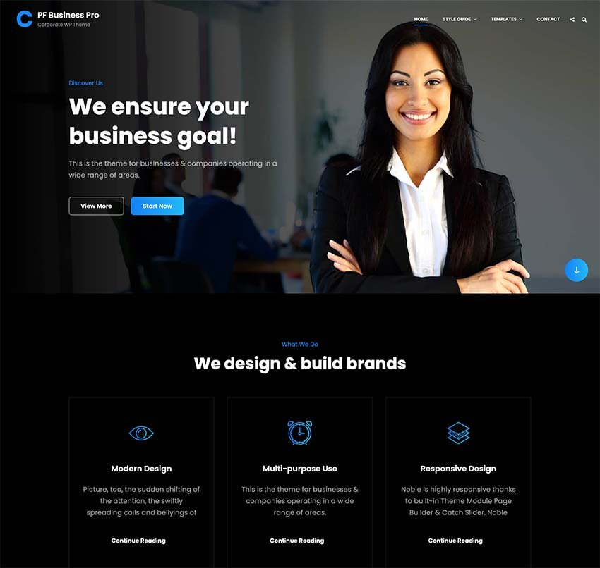 BusinessFocus WordPress Theme