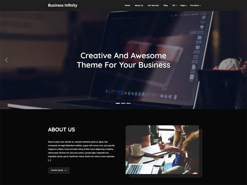 Business Infinity WordPress Theme