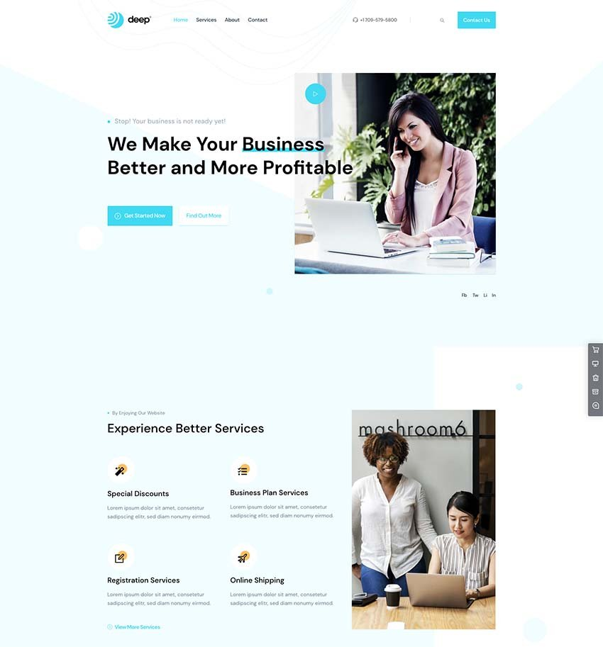 Deep Modern Business WordPress Theme