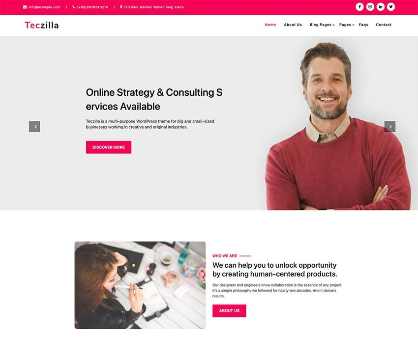 Teczilla Business WordPress Theme