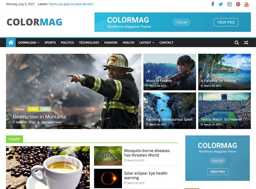 ColorMag - Free WordPress Theme
