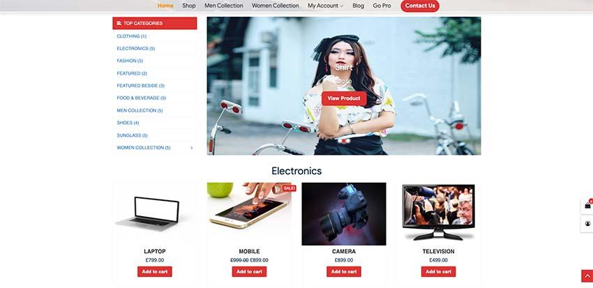 Shop Online - Free WordPress Theme