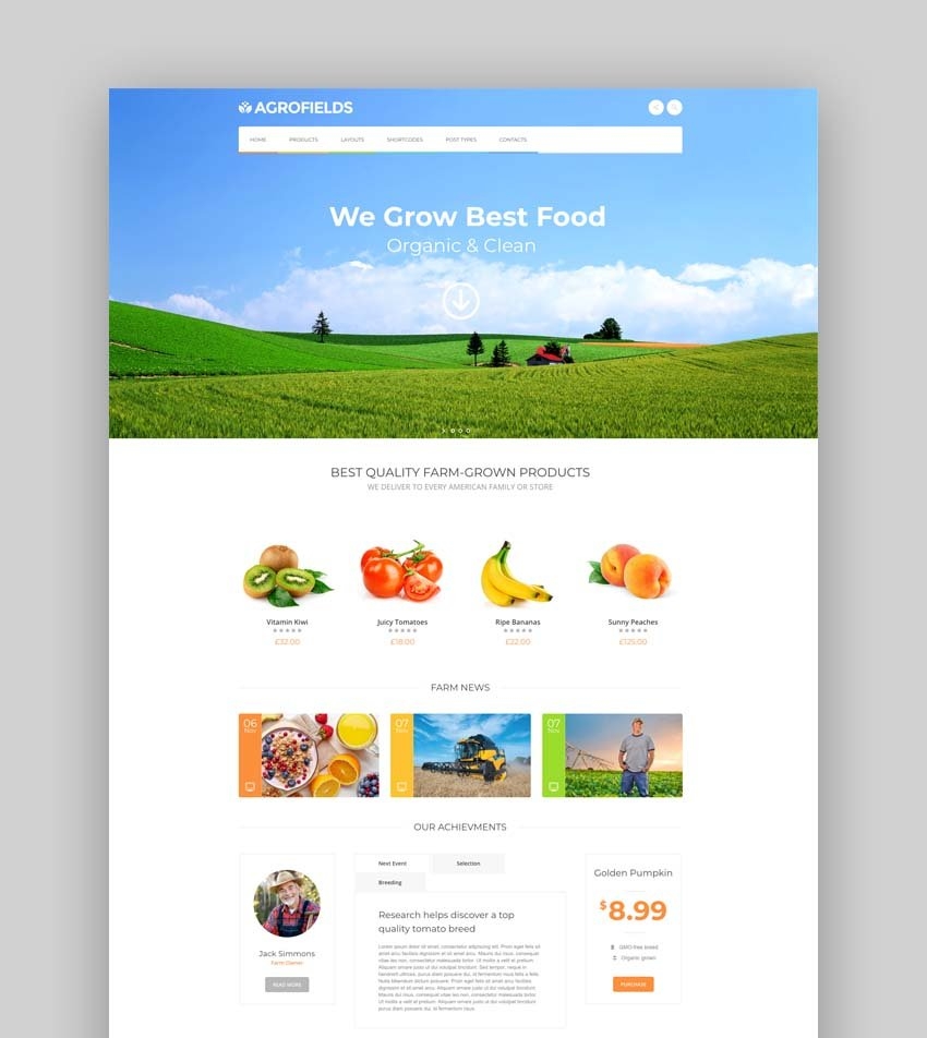 Agrofields - Food Shop & Grocery Market WordPress Theme