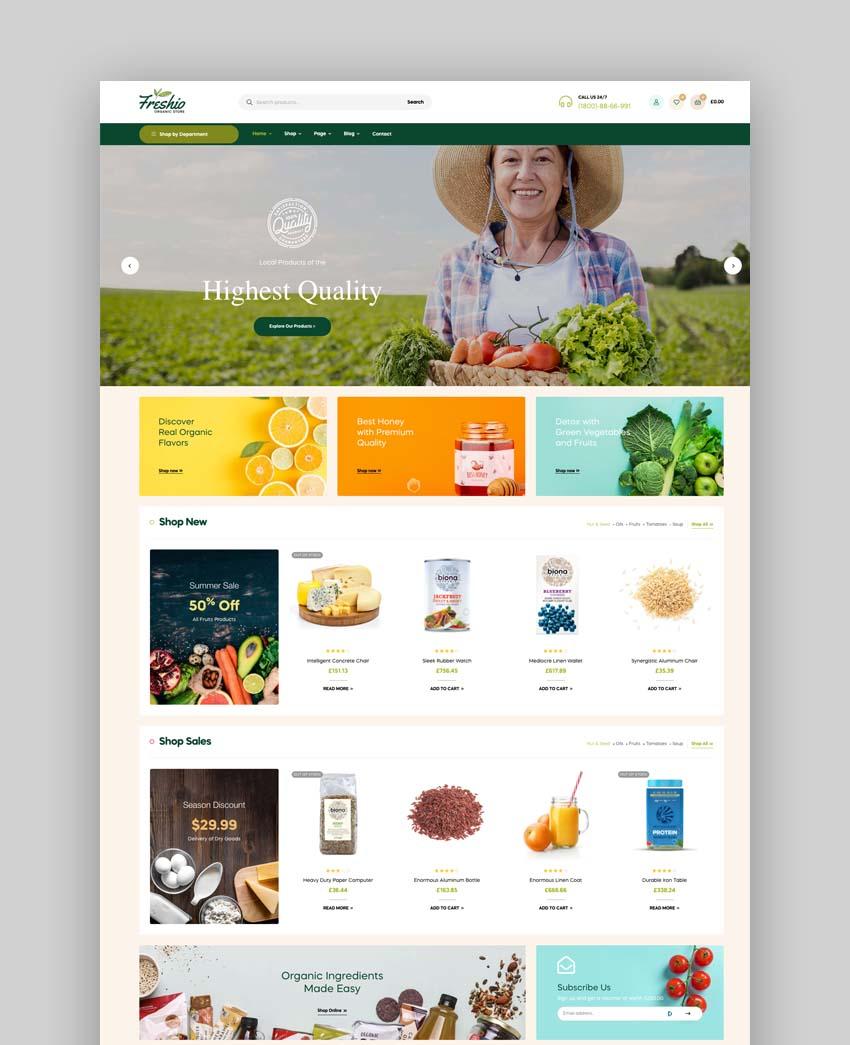 Freshio - Organic Food Services WordPress Theme