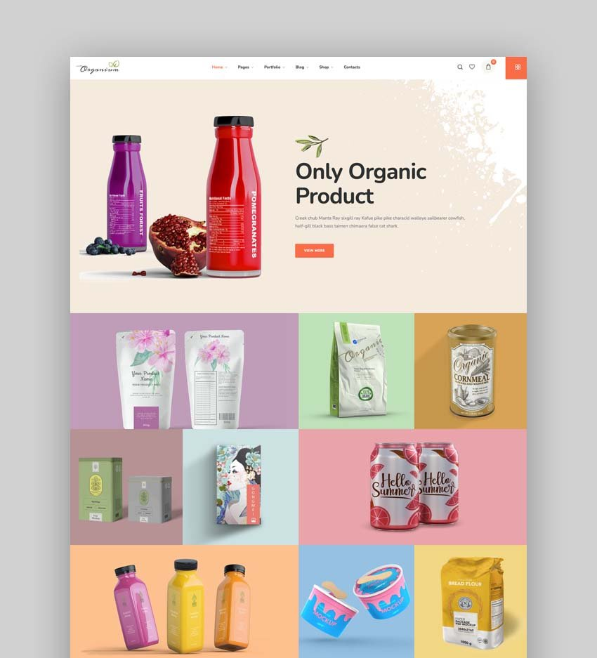 Organium Organic Food WordPress Theme
