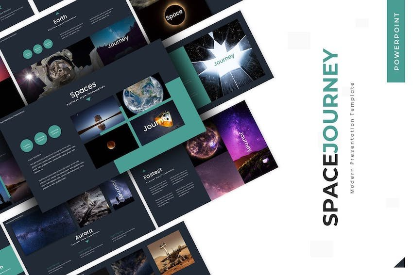 Space Journey PPT template