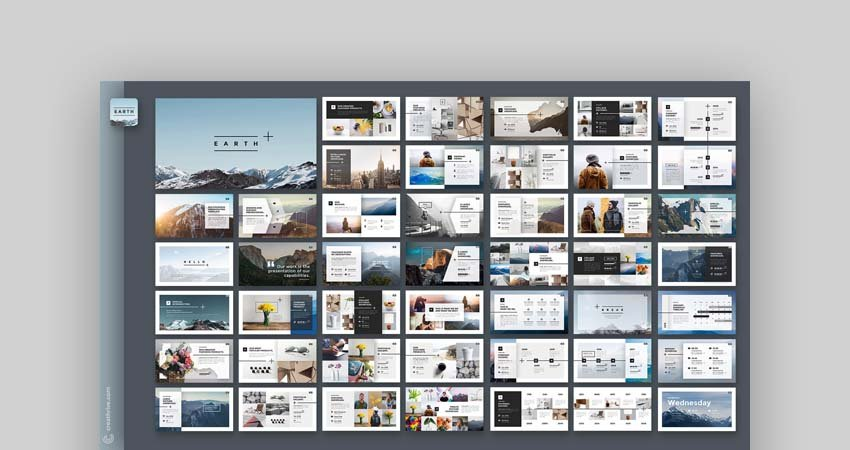 Earth PowerPoint template on Envato Elements