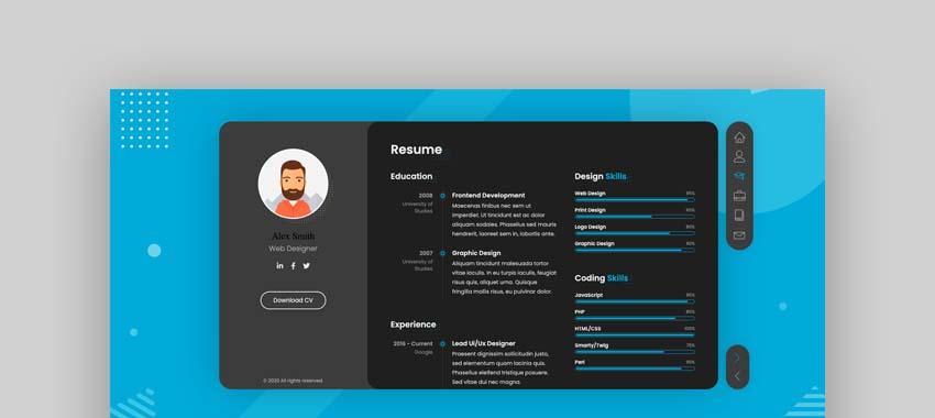 BreezyCV CV Resume Template