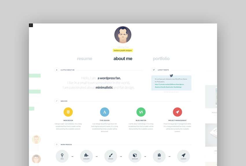 cvCard - Responsive Resume Template