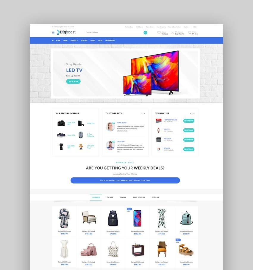 BigBoost - eCommerce Bootstrap 4 & 5 HTML Template