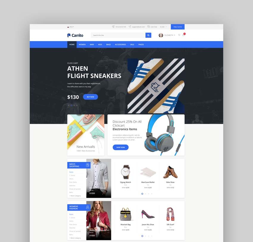 Carrito - Bootstrap 4 Ecommerce Template
