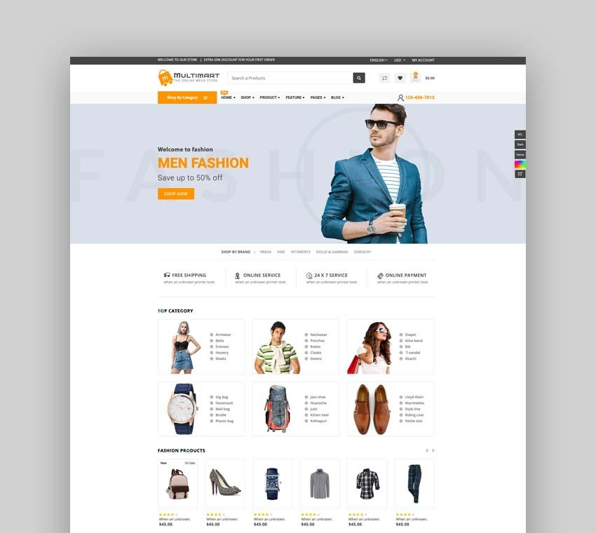 Multimart - Bootstrap 4 & 5 eCommerce HTML Template